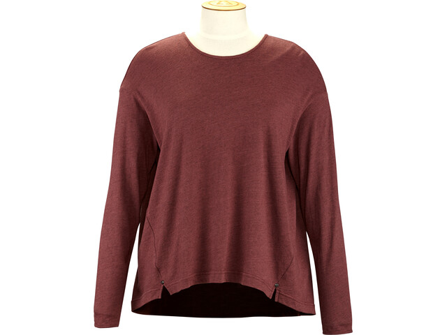 Alchemy Equipment Long Sleeve Pleated Relaxed Top Mujer, wine